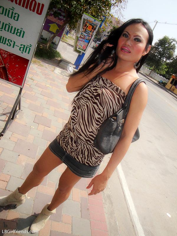 Amateur Pics From Shemale Aom At Pattaya Landmarks