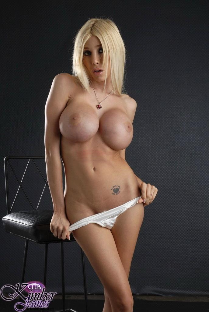 Arousing Massive Titted Hottie Kimber James Posing