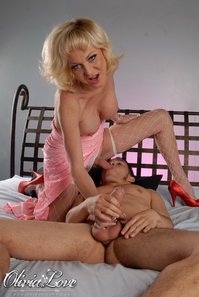 Blonde Transsexual Hottie Olivia Love Getting Destroyed