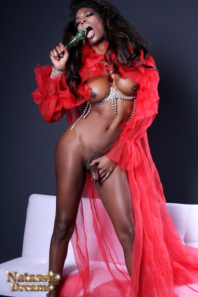 Ebony Natassia Toys Her Ass-Hole