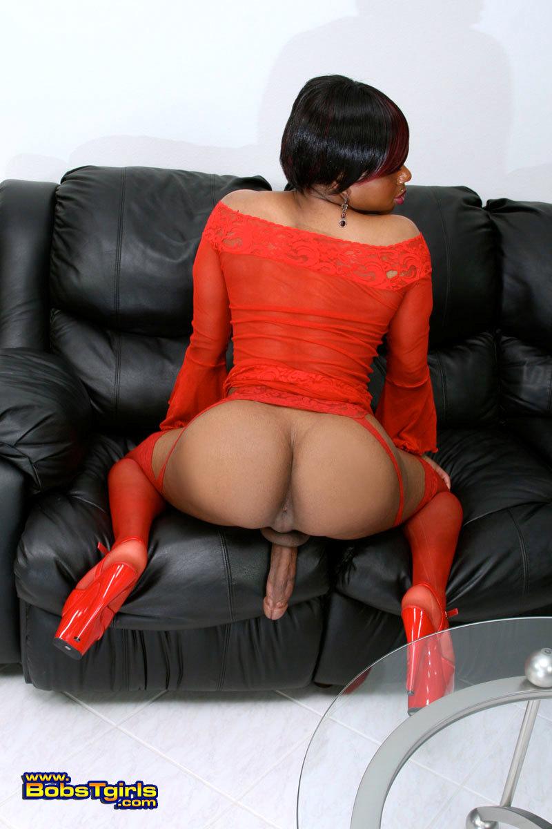 Ebony TS Goodbar Posing Her Massive Penis