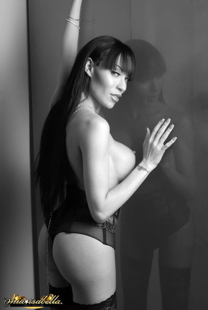 Enormous Tool Mia Poses In Black White