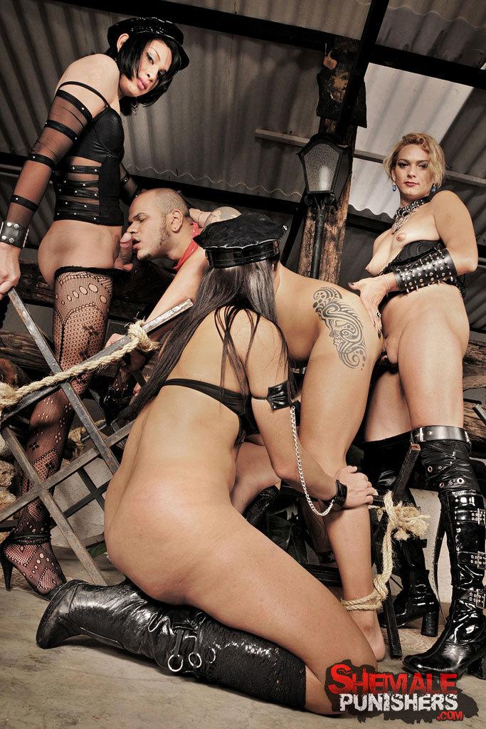Extreme Shemale Domination Gangbang: Danielle, Jessica, Lorra