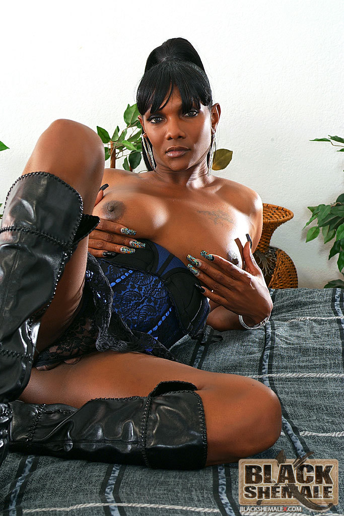 Fine Black Femboy Bares Her Tool
