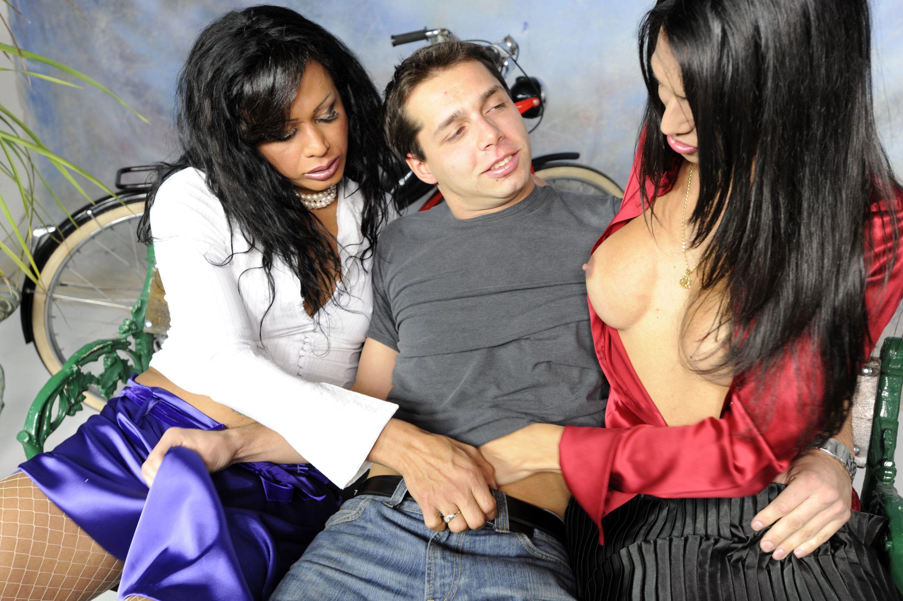 Flirtatious TGirl And Gay Man
