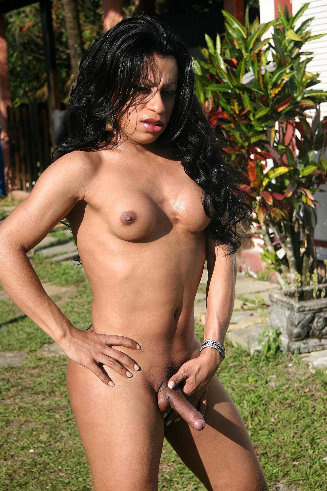 Flirtatious Tranny Alessandra Ferra Enjoying A Latina Pussy