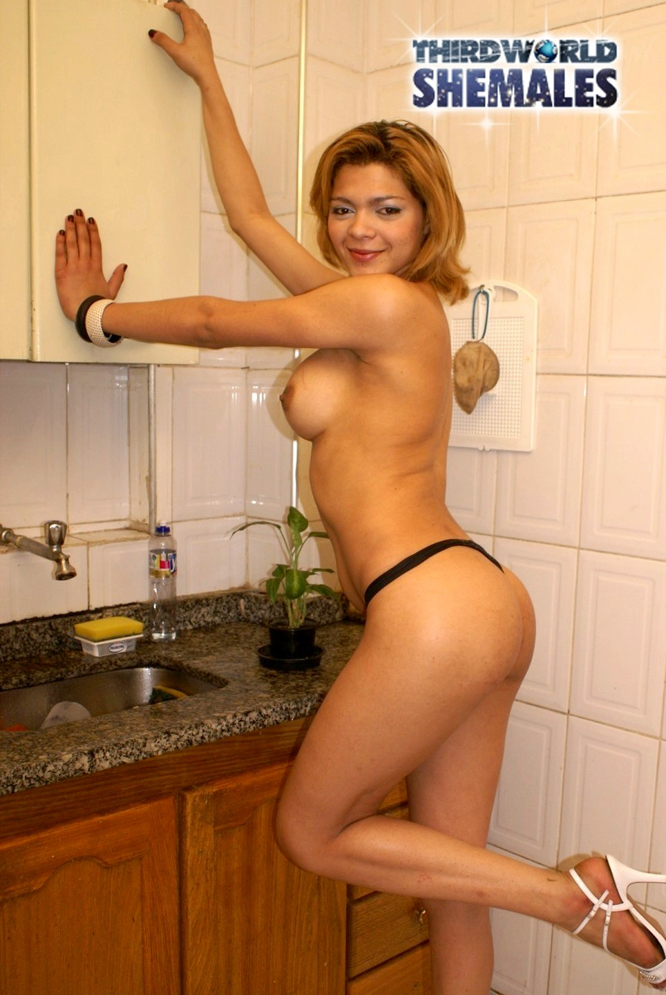 Gizelle Is A Massive Brazilian Blonde With A Tight Body, Massive Tit