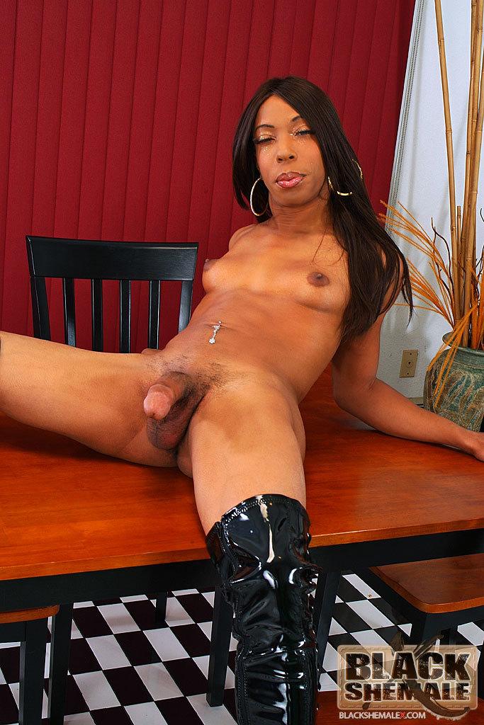 Huge Dick Black T-Girl Honey