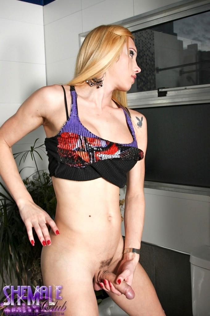 Innocent Transexual Exposing Her Wet Tool