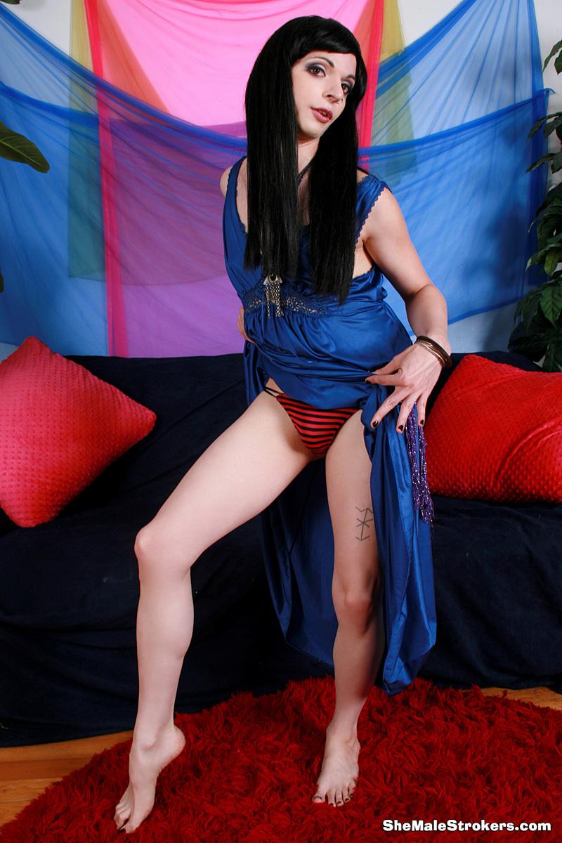 Kinky Prostitute TS Isabelle Foxglove Stroke's Her Fuck Stick!
