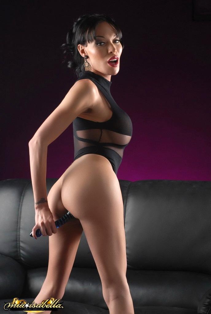 Massive Cock Mia Toying Her Tight Butt