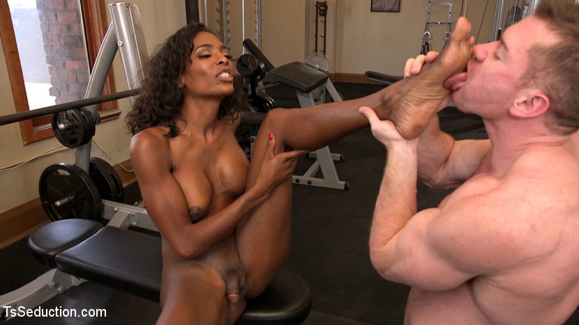 Natassia Fantasies Pumps Her Penis Deep Into Muscle Boys Starved Asshole!