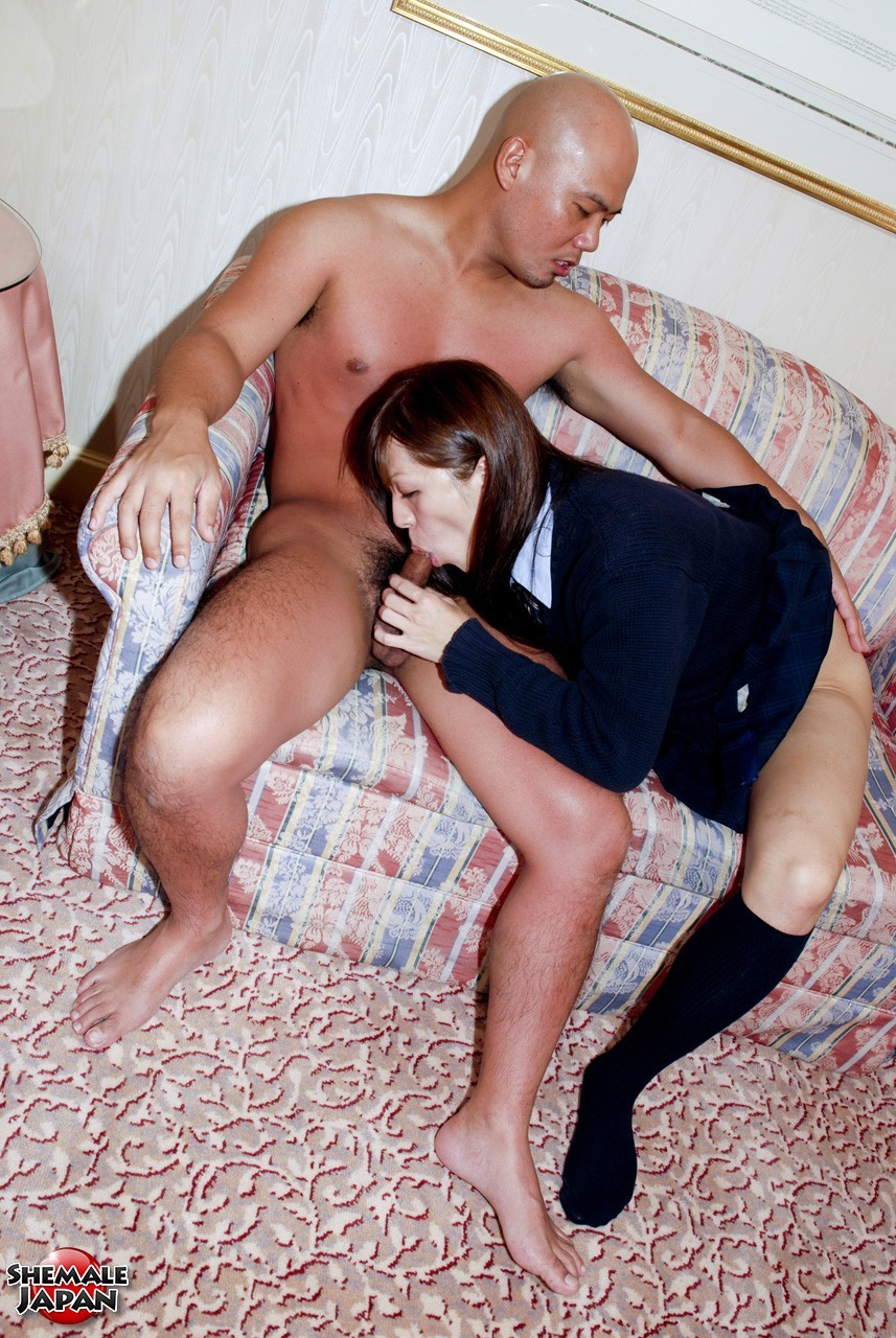 Naughty Japanese T-Girl In Rough Action