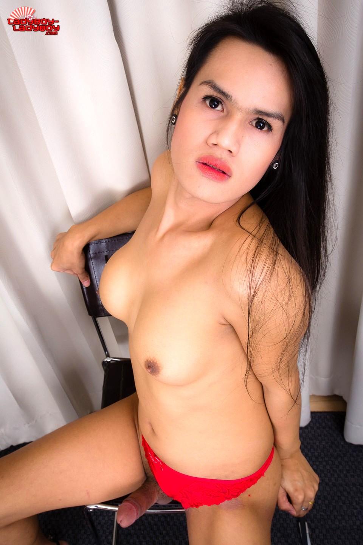 Nej Is A Titillating Ts From Bangkok. She Has Tan Skin, Really