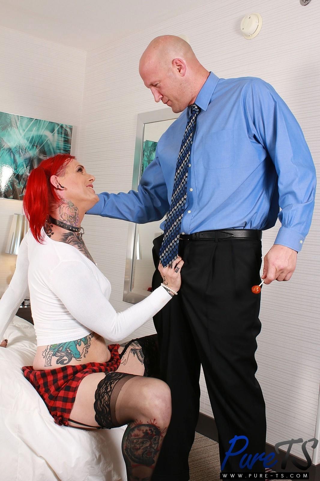 Sadie Satanas Is A Tattooed Redhead TS That Enjoys To Be Subm