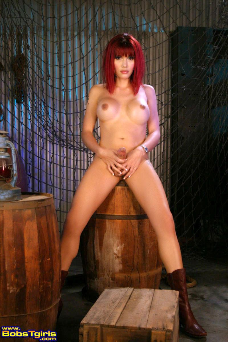 Sensual Redhead Eva Lin Posing As A Sailor Girl