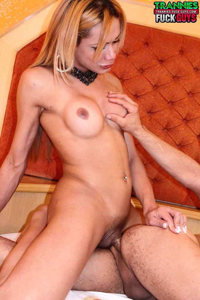 Starved T-Girl Bangs Her Man!