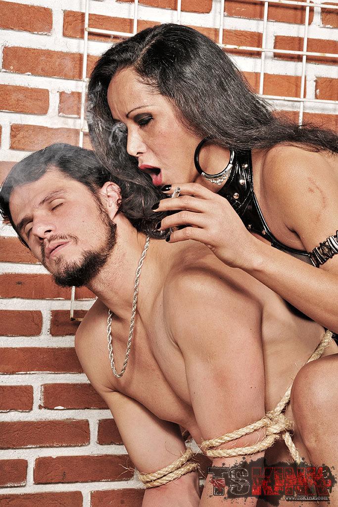 Straight Guys Worships His T-Girl Mistress
