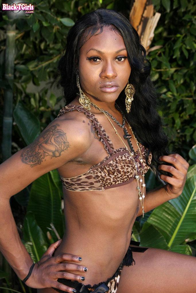 Tall Skinny Black T-Girl Beauty!