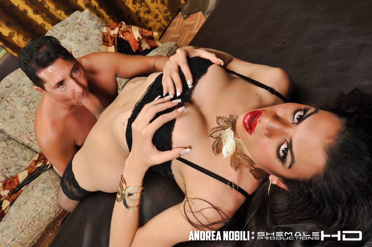 Tattooed T-Girl Brenda Rips Pierre Ass-Hole