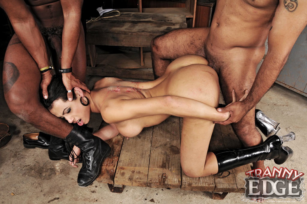 Tgirl Cop Caught By Prisoners And Ravaged