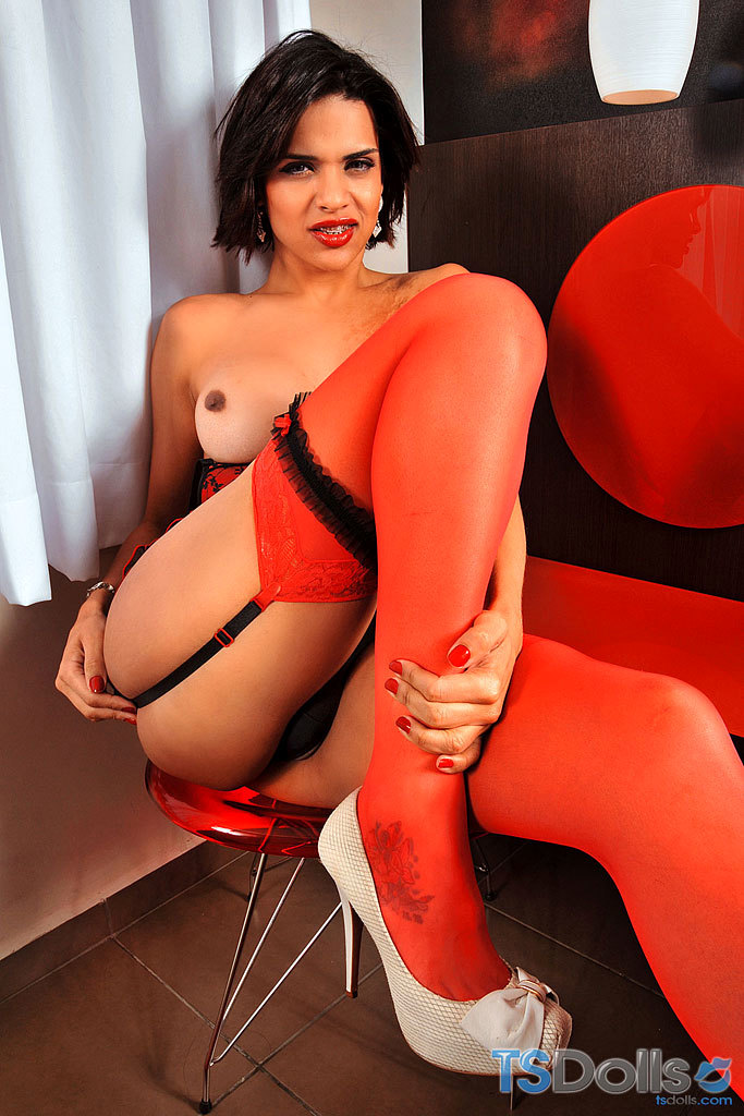 Thayna Louzada In Hot Red Panties