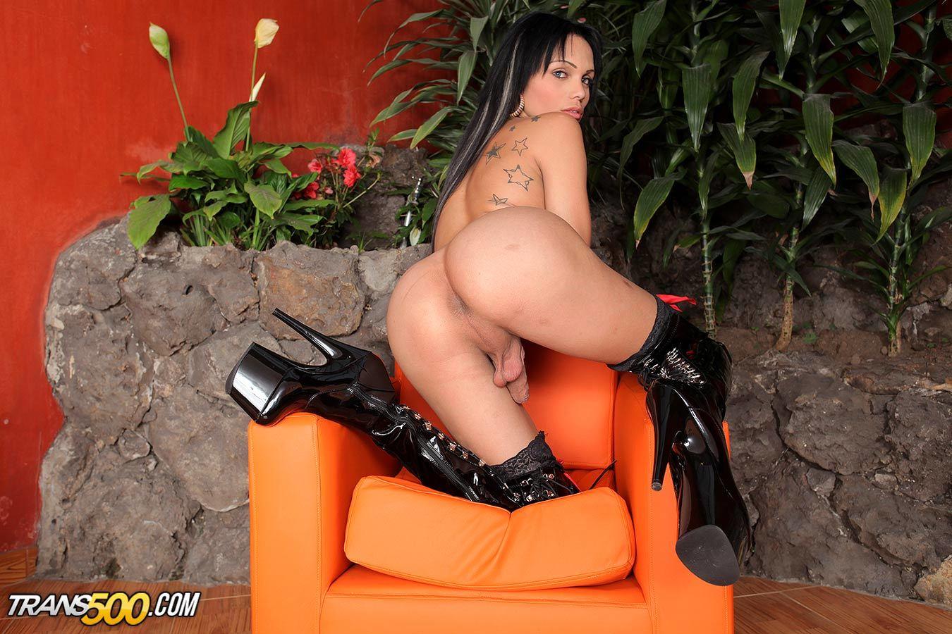 The Arousing Latina Tgirl Sofia Obregon Toys Her Meaty Lusciou
